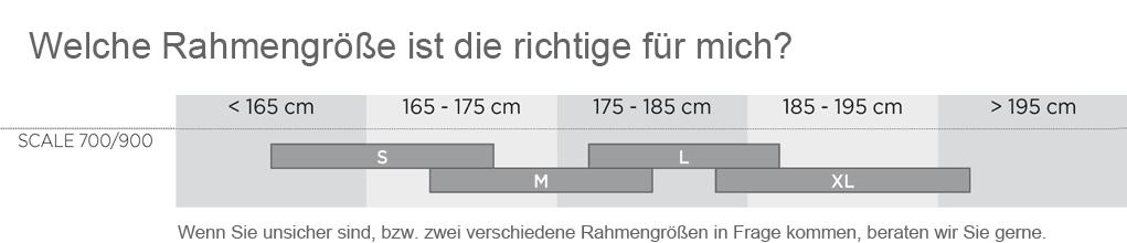 Welche Gr��e ist beim Scale 700/900 die richtige f�r mich?